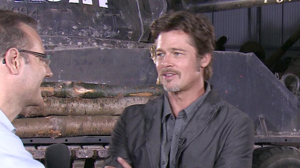 Brad Pitt, FURY, Bovington 2014