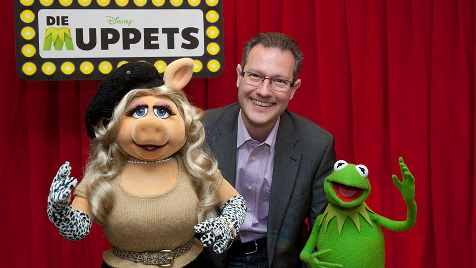 Miss Piggy und Kermit, THE MUPPETS, Berlin 2012